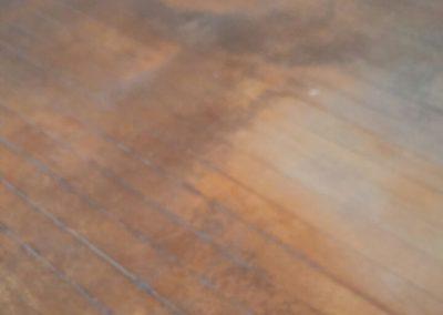 taco antigo desgastado antes de raspar